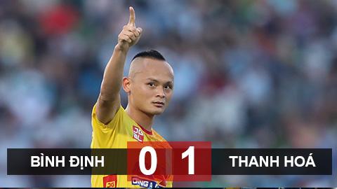 Bình Định 0-1 Thanh Hoá: Quốc Phương lập siêu phẩm đá phạt