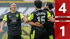 Dortmund vs Werder Bremen: 4-1 (Vòng 29 Bundesliga 2020/21)