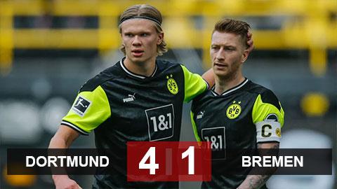 Kết quả Dortmund 4-1 Bremen: Haaland ''thông nòng'', Dortmund khiến Bremen thua 6 vòng liên tiếp