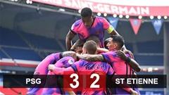 PSG 3-2 Saint-Etienne: Thắng nghẹt thở Saint-Etienne, PSG chỉ còn kém Lille 1 điểm