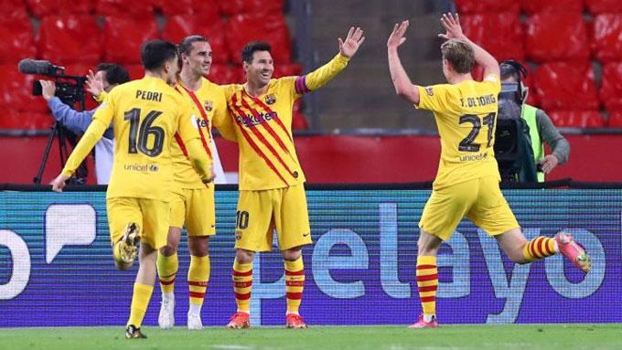 Messi và các đồng đội đã chơi 1 trận tuyệt hay