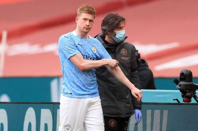 Chấn thương của De Bruyne có thể khiến Man City thêm nhiều khó khăn