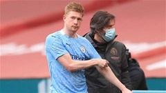 Man City run rẩy chờ thông tin chấn thương của De Bruyne