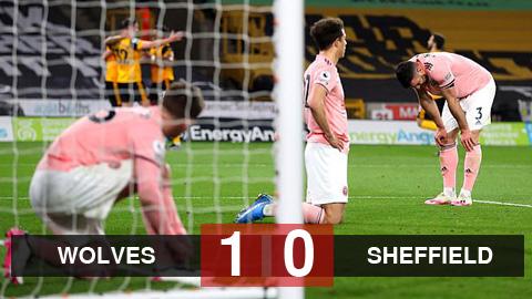 Kết quả Wolves 1-0 Sheffield United: Ngoại hạng Anh chia tay CLB đầu tiên