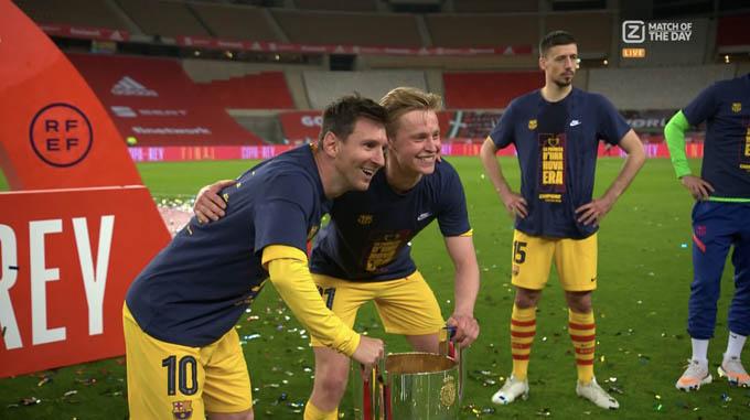De Jong và Messi đang rất ăn ý
