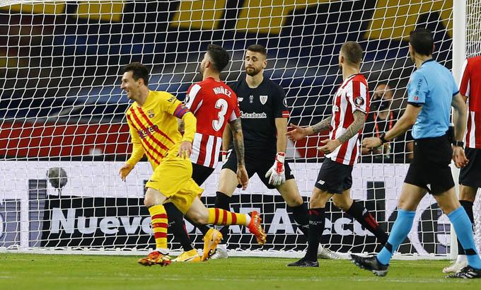Messi lập cú đúp giúp Barca đánh bại Bilbao