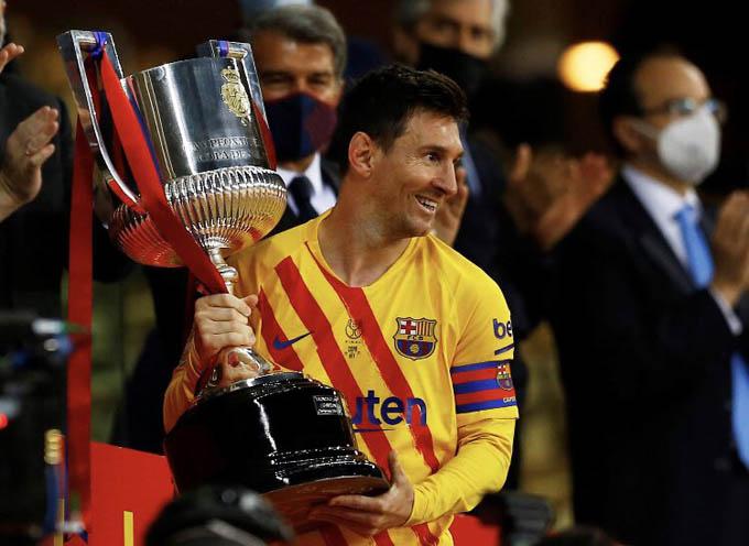 Messi giành Cúp Nhà Vua 2020/21