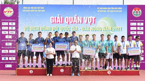 Lý Hoàng Nam cùng Hải Đăng 1 vô địch giải quần vợt đồng đội quốc gia 2021