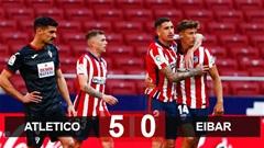Atletico 5-0 Eibar: Đại thắng đội bét bảng, Atletico nới rộng khoảng cách với Real và Barca