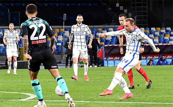 Eriksen gỡ hòa cho Inter