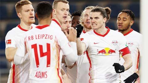 Các cầu thủ Leipzig sẽ được ăn mừng chiến thắng