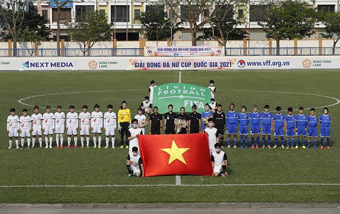 Trận đấu khai mạc giữa đội Hà Nội I Watabe và Thái Nguyên T&T - Ảnh: VFF