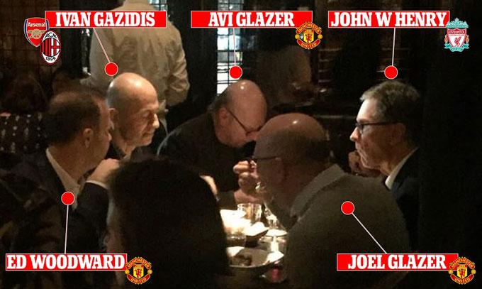 Các sếp của Arsenal, MU, Liverpool ăn tối cùng nhau năm 2017