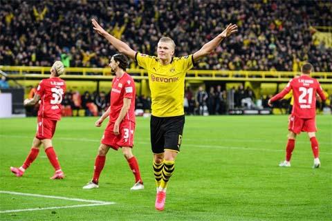 Haaland sẽ ghi bàn để mang về chiến thắng cho Dortmund