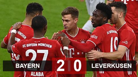 Bayern 2-0 Leverkusen: Còn cách Đĩa Bạc 1 bước chân