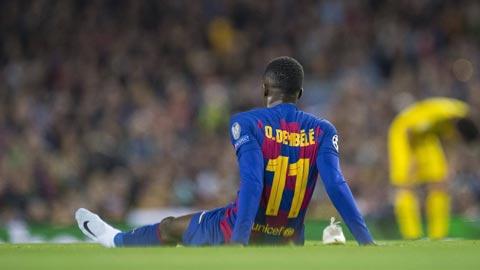 Dembele lại chấn thương, lỡ trận Barca vs Getafe