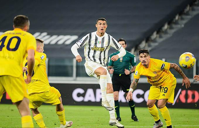 Ronaldo đang dẫn đầu danh sách Vua phá lưới Serie A 2020/21