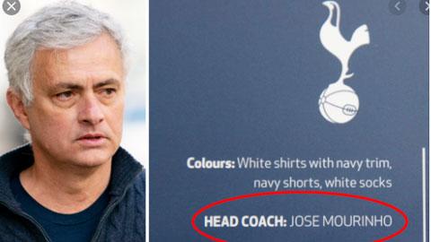 Tottenham vẫn để tên Mourinho sau khi sa thải