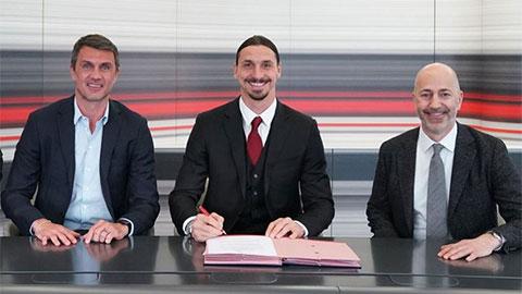 Zlatan Ibrahimovic gia hạn hợp đồng với AC Milan