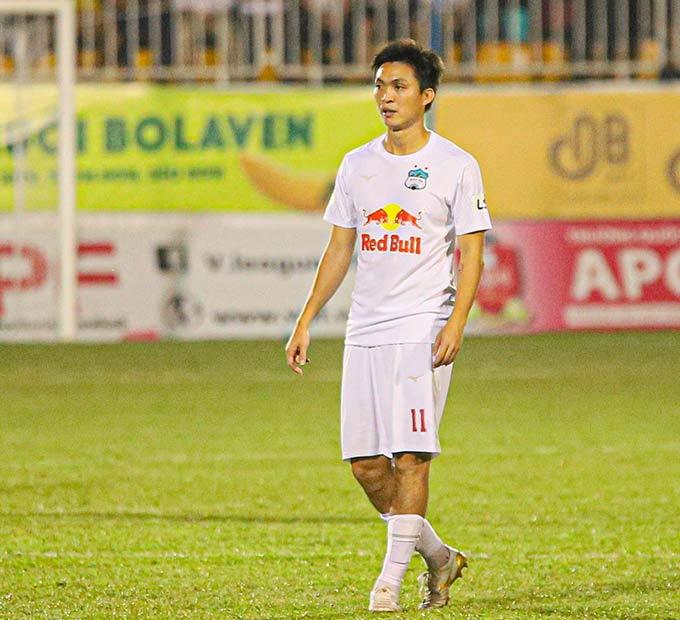 Tuấn Anh mới chỉ đá 3 trận ở V.League - Ảnh: HAGL FC