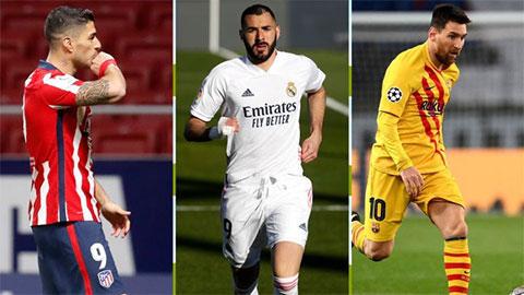 Tổng hợp vòng 31 La Liga: Atletico, Real, Barca đua vô địch siêu hấp dẫn