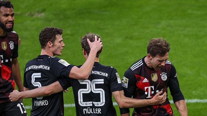 Chiến thắng trước RB Leipzig mở ra cơ hội lớn để Bayern lần thứ 9 liên tiếp vô địch Bundesliga