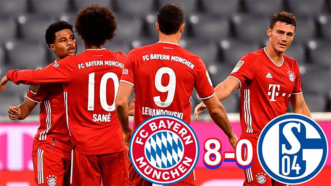 Bayern từng vùi dập Schalke 8-0 trong trận mở màn mùa giải
