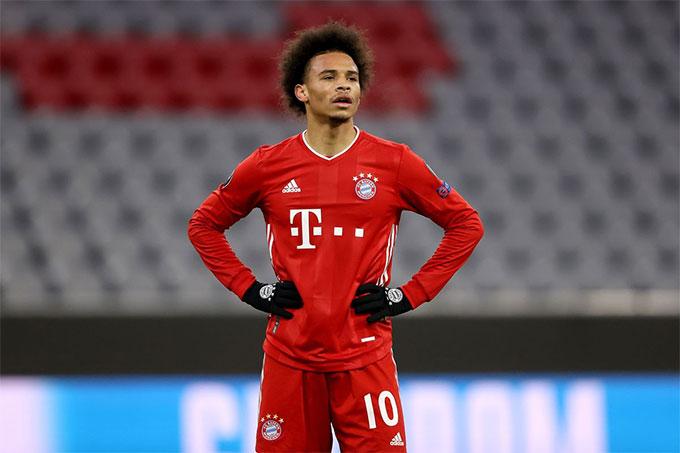 Sane chơi không quá nổi bật ở Bayern