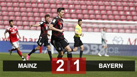 Mainz 2-1 Bayern: Thua sốc Mainz, Bayern chưa thể lên ngôi