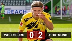 Wolfsburg 0-2 Dortmund: Haaland tỏa sáng, Dortmund áp sát top 4