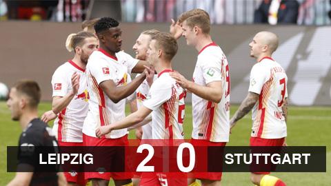 Kết quả RB Leipzig 2-0 Stuttgart: Không để Bayern dễ dàng vô địch