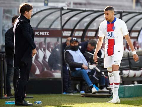 Theo HLV Pochettino, Mbappe không bị đau nặng