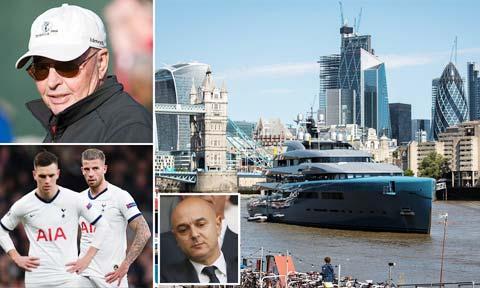 """""""Bố già"""" Joe Lewis thường điều hành Tottenham  ngay trên siêu du thuyền Aviva III"""
