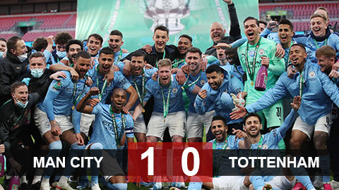 Man City 1-0 Tottenham: Cúp về thành Manchester