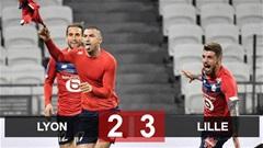 Lyon 2-3 Lille: Ngược dòng kịch tính, Lille đòi lại ngôi đầu từ tay PSG