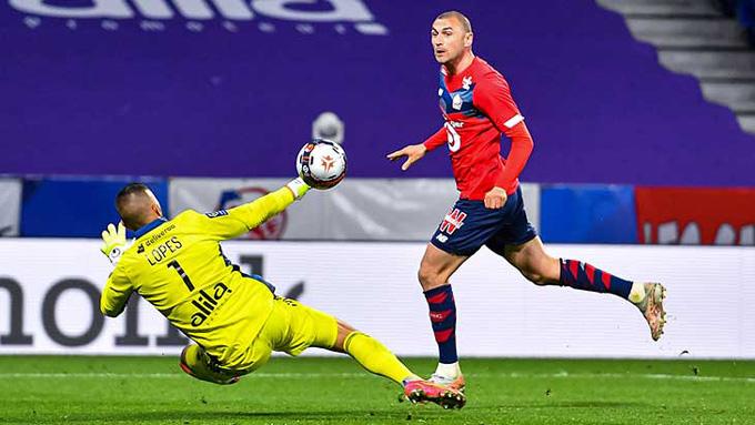 Yilmaz tỏa sáng rực rỡ ở trận Lyon vs Lille với 2 bàn thắng và 1 kiến tạo