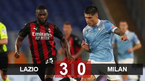 Kết quả Lazio 3-0 Milan: Correa & Immobile đá văng Milan khỏi Top 4