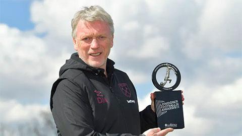 HLV David Moyes giành giải nhà quản lý hay nhất London 2021