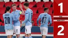 PSG vs Man City: 1-2, De Bruyne và Mahrez giúp Man xanh  thắng ngược