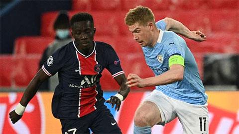 De Bruyne đóng góp 1 bàn thắng vào thắng lợi của Man City trước PSG