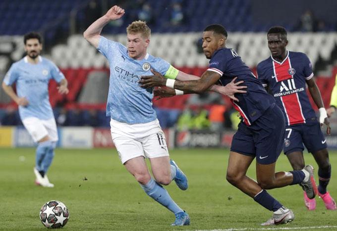 Man City đã chơi một trận xuất sắc trước PSG