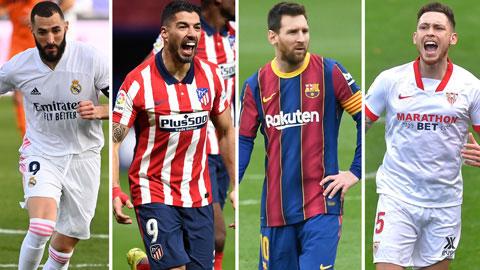 Đua vô địch La Liga: Barca 'chê' ngôi đầu, cờ lại chuyển đến tay Atletico