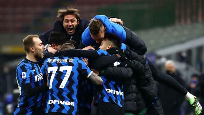 Chiến thắng trước Lazio giúp Inter leo lên ngôi đầu BXH
