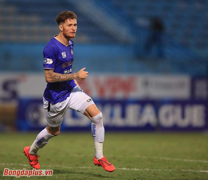 Geovane lập cú đúp, góp công giúp Hà Nội FC thắng Sài Gòn FC - Ảnh: Minh Tuấn