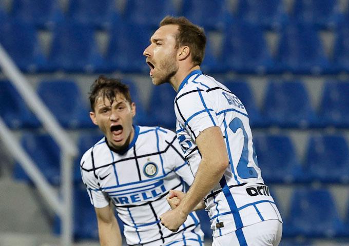 Eriksen mở tỷ số trận Crotone vs Inter ở phút 69