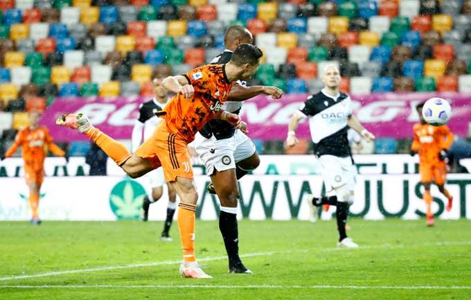 Ronaldo bay người đánh đầu ấn định tỷ số 2-1 trận Udinese vs Juventus
