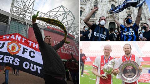 CĐV MU biểu tình, Inter vô địch & những điểm nhấn bóng đá châu Âu cuối tuần qua