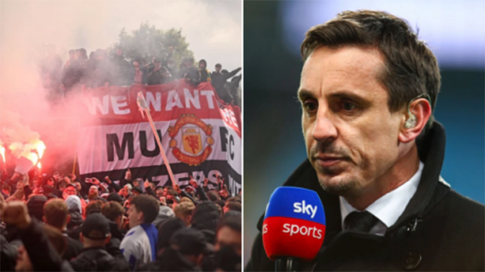 Neville hiểu vì sao CĐV MU bạo động tại Old Trafford