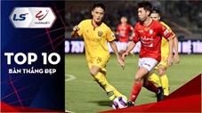 Top 10 bàn thắng đẹp vòng 12 V.League: Văn Toàn, Lee Nguyễn 'nổ súng' ấn tượng