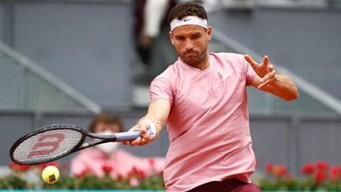 Grigor Dimitrov bị loại ở trận đầu Madrid Open 2021